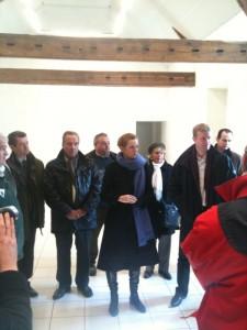 Réunion à Saint-Escobille avec NKM, Franck Marlin et Jean-Pierre Delaunay